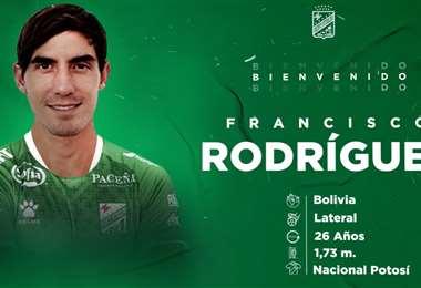 Rodríguez, nueva contratación de Oriente Petrolero. Foto: Oriente Petrolero