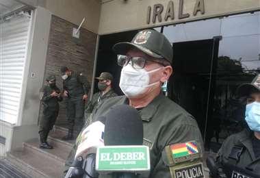 Franz Cellis, comandante de la Policía de Santa Cruz. | Foto: Juan Delgadillo