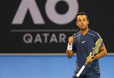 Hugo Dellien disputará el primer Grand Slam del año. Foto: Hugo Dellien