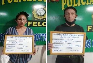 Los ciudadanos peruanos tienen antecedentes en Venezuela | Foto: Felcc