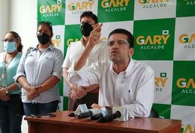 Añez en conferencia de prensa I Juan Carlos Torrejón.