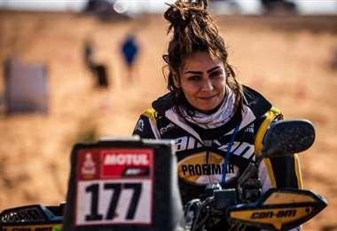 Suany Martínez, la única dama del Dakar en la categoría cuadriciclos. Foto: Martínez Dakar