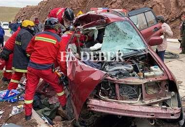 Fatal accidente en Oruro /Foto: Emilio Huáscar