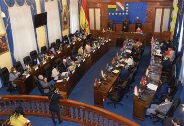 La sesión en la Cámara Alta I Senado.