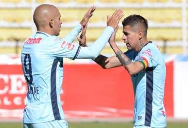 Arce y Riquelme fue la dupla del gol en Bolívar el año pasado. Foto: internet