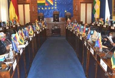 Los senadores sesionaron para designar embajadores (Foto: Senado)