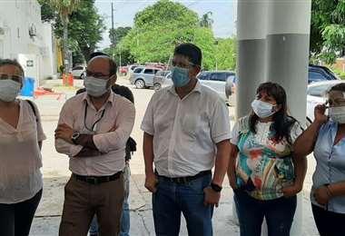 Brigada parlamentaria visita a los centros de salud de ñla ciudad