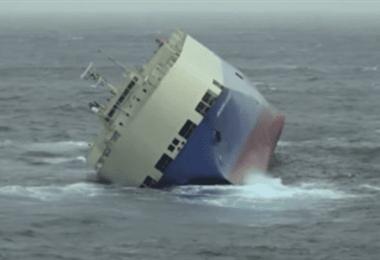 Carguero se hunde en el mar Negro