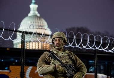 El Capitolio bajo fuerte resguardo militar /Foto: AFP