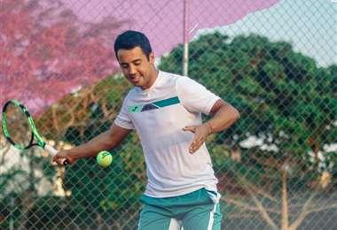 Hugo Dellien, tenista boliviano que participará en el Abierto de Australia. Foto: HD