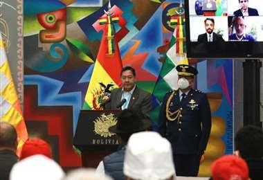 Arce rendirá su informe a través del canal estatal /Foto: ABI