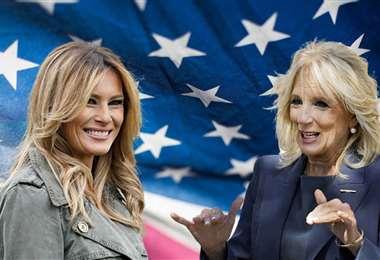 Melania Trump y Jill Biden, las primeras damas saliente y la entrante