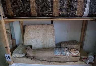 Sarcófago hallado en Egipto/Foto: AFP