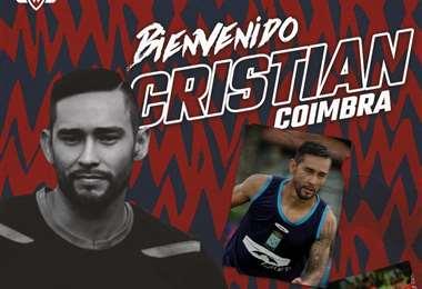 Cristian Coímbra, uno de los fichajes de Wilstermann para este año. Foto: club Wilstermann
