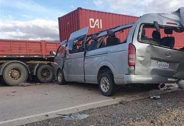 Accidente fatal en Oruro/Foto: Emilio Huáscar