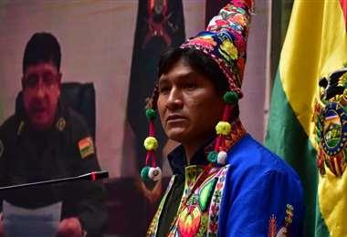 El viceministro en conferencia de prensa I Gobierno.
