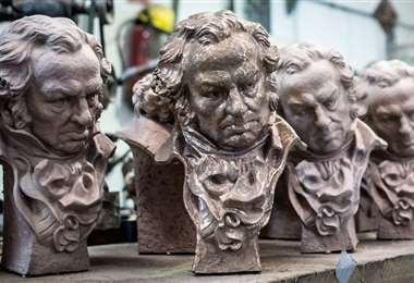 Estas son las estatuillas que reciben los ganadores del premio Goya de España