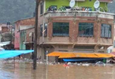 La avenida, Gutiérrez Guerra, en la población de Guanay (Foto: RRSS)