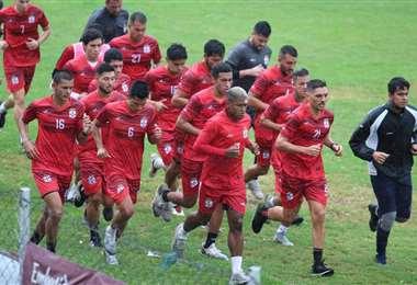 Entrenamiento del plantel de Real Santa Cruz. Foto: Club RSC