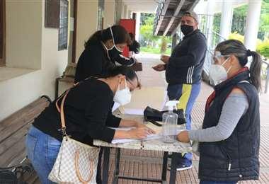 Inscripciones escolares en Santa Cruz/Foto: Juan Carlos Torrejón