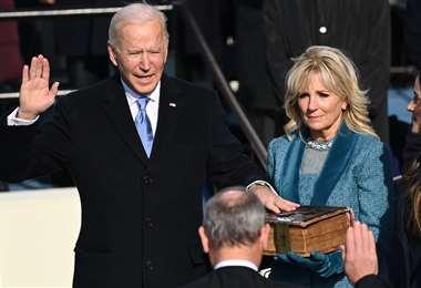 Joe Biden jura como presidente de EEUU/fOTO: afp