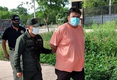Acusado ingresa al juicio/Foto: Gentileza Adalberto Montenegro