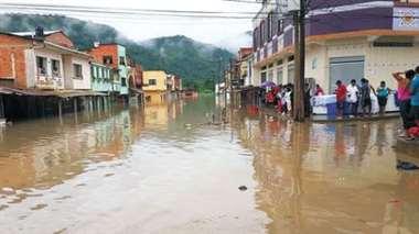 Guanay es una de las zonas más afectadas por la inundación