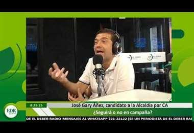 Gary Áñez cuestionó la relación entre Sosa y Paniagua