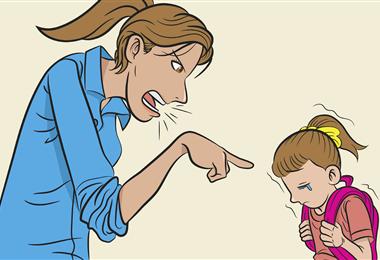 Los gritos causan graves heridas en los niños, que están formando su personalidad