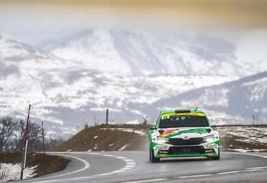 Bulacia en plena competencia del Rally Montecarlo. Foto: Marlene Peña