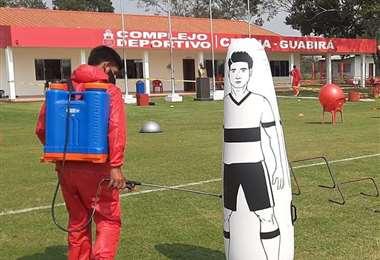 El equipo montereño tiene todo listo para volver a entrenar. Foto: Club Guabirá