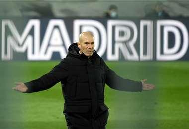 Zinedine Zidane, entrenador del Real Madrid. Foto: AFP