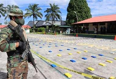La droga fue secuestrada en El Chapare/Foto: ABI