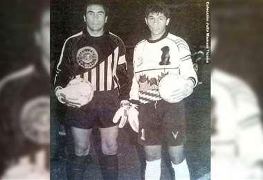Luis Esteban y Sergio Daniel enfrentados en la cancha. Foto: Julio Mamani