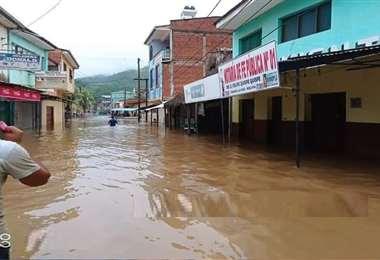 Guanay y otros municipios paceños se han visto anegados por el agua