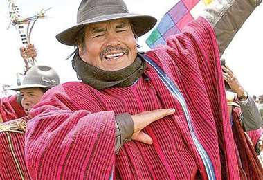 El extinto líder indígena, murió hace cuatro días/Foto: EL DEBER