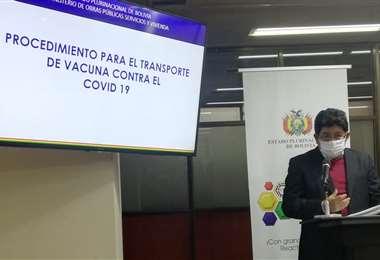El ministro Montaño en conferencia de prensa I Twitter.