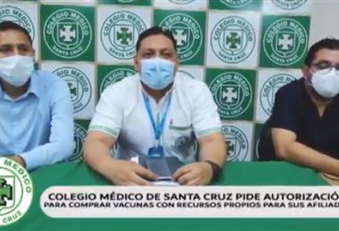 Médicos en Santa Cruz dieron conferencia de prensa.