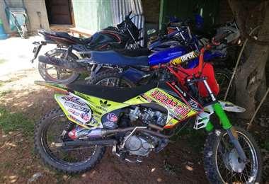 Motocicletas recuperadas por la Policía