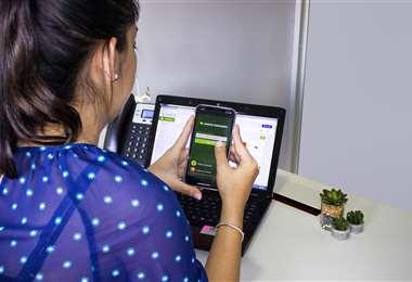 La tecnología al servicio del cliente (Foto: Banco Ganadero)