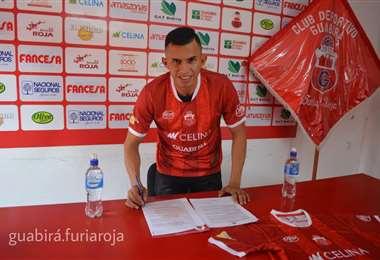 Zampiery  jugó en Real Santa Cruz la temporada pasada. Foto: Guabirá Furia Roja