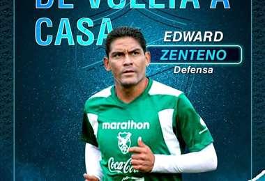 Zenteno regresa jugó por ultima vez en Aurora el 2012. Foto: Club Aurora