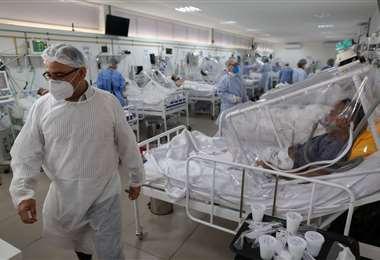 Hospital Gilberto Novaes de Manaos, Brasil/Foto: AFP