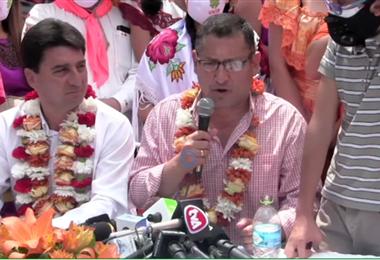 Oscar Montes, candidato a gobernador de Tarija
