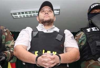 Pedro Montenegro cuando fue arrestado en Santa Cruz
