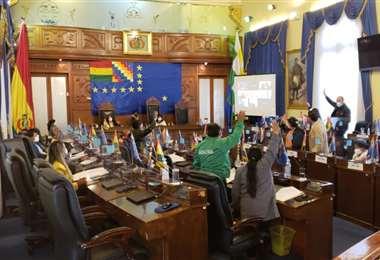 La votación sobre el caso, en el Senado.