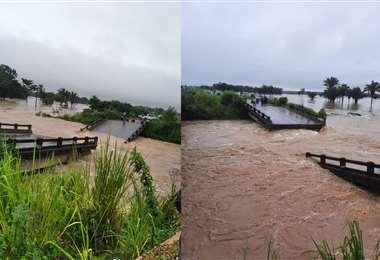 El puente colapsó pasado el mediodía de este jueves, según los reportes
