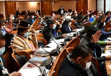 Los opositores abandonaron el hemiciclo parlamentario (Foto: RRPP Diputados)