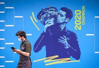 En la sede del Abierto de Australia ya se promociona el torneo. Foto: AFP