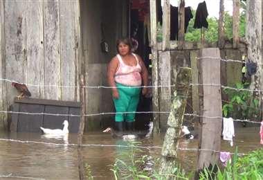 Afectados por las lluvias en el norte cruceño